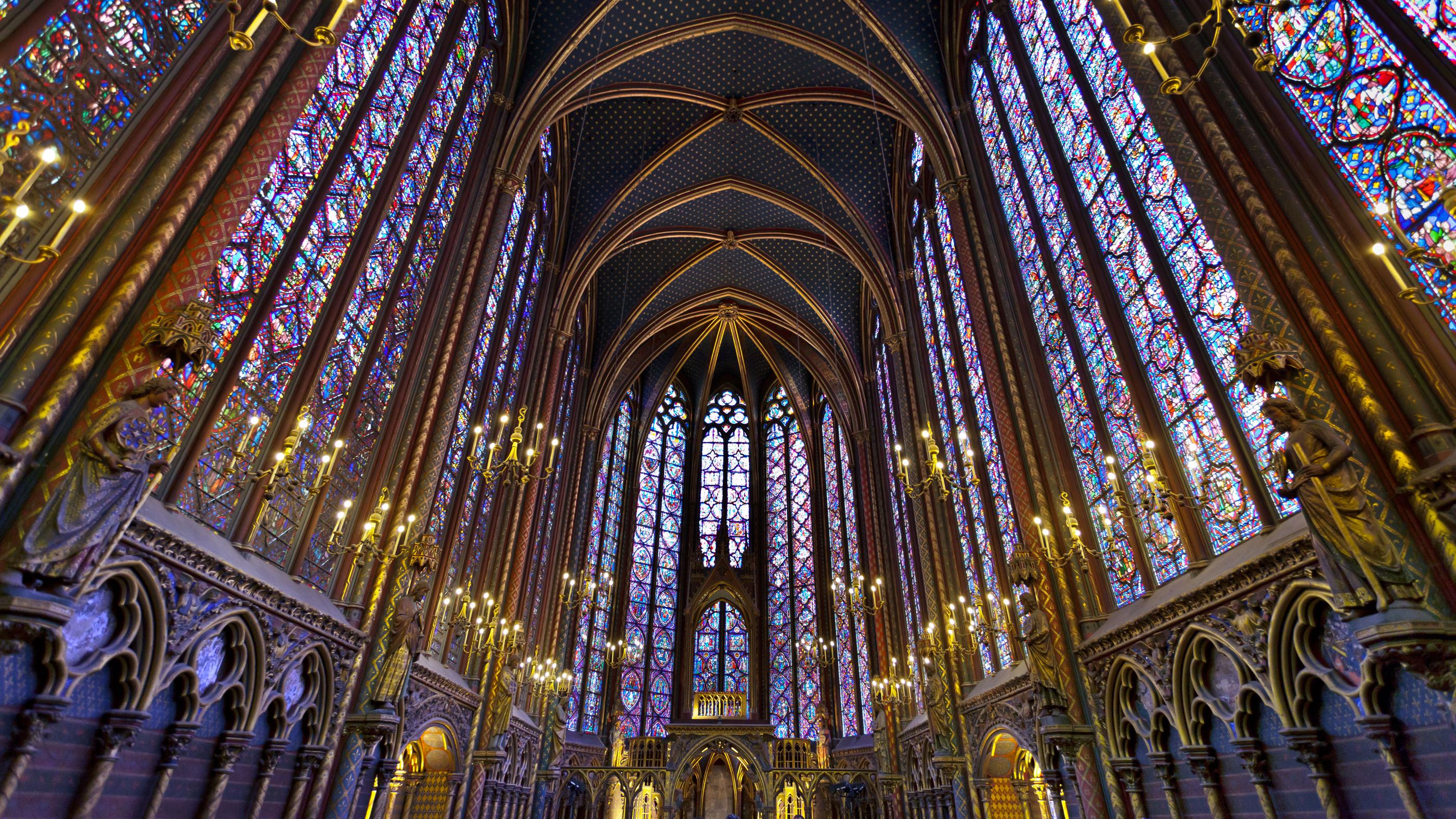 Soffitto Blu Notte : Sainte-Chapelle Paris