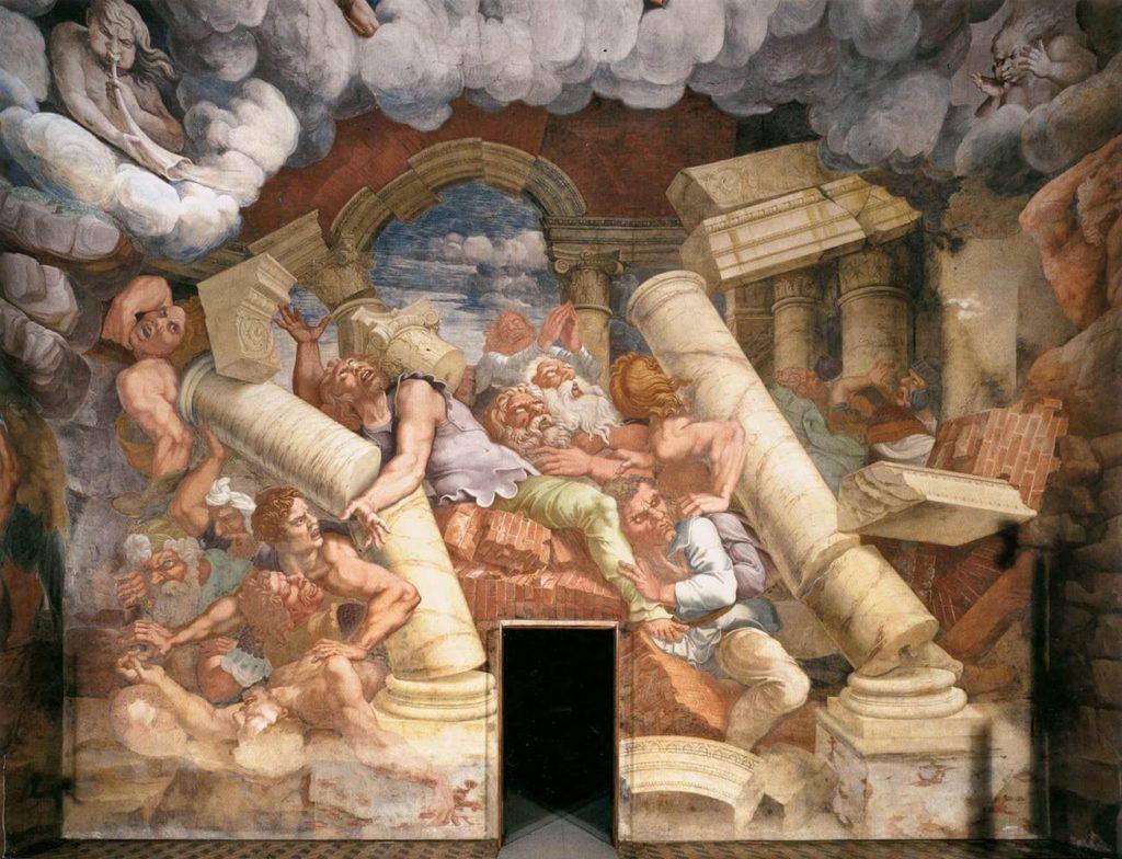 Ombelico-del-mondo- sala-dei-giganti-palazzo Te- Mantova